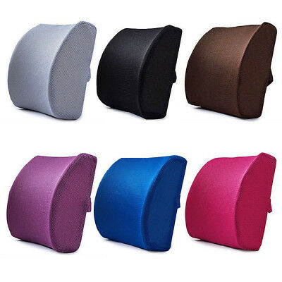 Memory Foam Breathable Lumbar Cushion Back Support Car Seat Home Office Chair