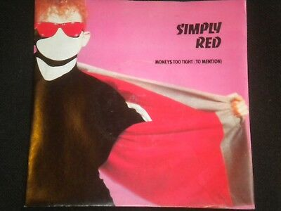 "Simply Red - Moneys Too Tight (To Mention) - Vinyl Record 7"" Single - EKR 9"