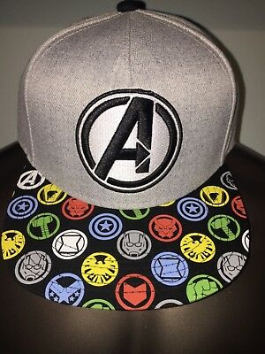 8baedf9c8 ENDGAME THE AVENGERS 4 BLACK Panther Thanos MARVEL movie MEN'S SnapBack HAT  Cap