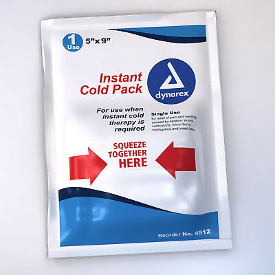 """96 Pack Instant Ice Cold Packs 5""""x9"""" First Aid Survival Emergency EMT Kits"""