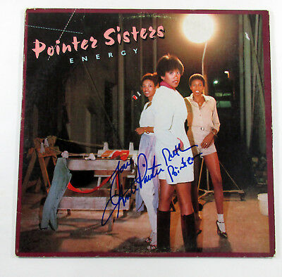 Anita & Ruth Pointer Signed Album The Pointer Sisters Energy 2 AUTO DF016081