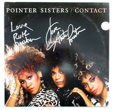 Anita & Ruth Pointer Signed Album The Pointer Sisters Contact w/ 2 AUTOS