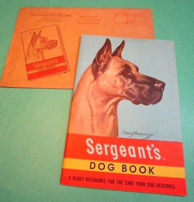 Polk Miller Sergeant's Dog Book booklet 1950s GREAT DANE NM wi Envelope