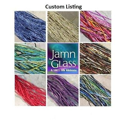 SILK CORDS Assorted Colors Qty 1 Silk Strings Hand Dyed Stringing Supply Various