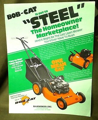 Vintage Bob-Cat Two-In-One Lawn Mower is out to Steel: Johnson Creek, Wisconsin