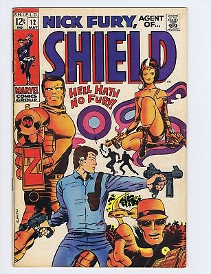 Nick Fury, Agent of Shield 12 (GVG) Barry Smith cover/art; Marvel; 1969 (c#19151