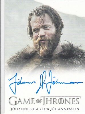 2018 Game Of Thrones Season 7 Johannes Haukur Johannesson Autograph Tradng Card