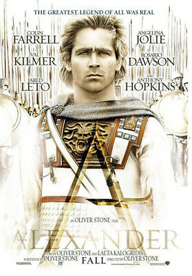 Alexander (2004) original movie poster version B - double-sided - rolled