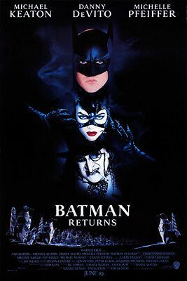 Batman Returns (1992) original movie poster - single-sided - rolled