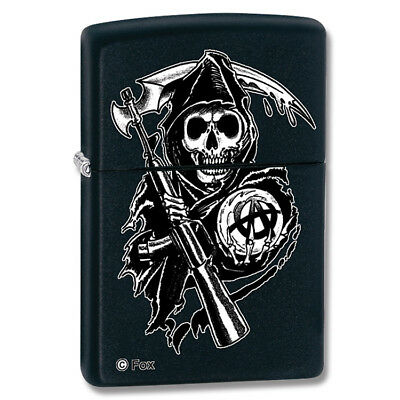 28504 Zippo Sons of Anarchy Black Matte Lighter