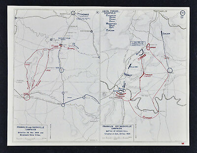 West Point Civil War Map - Battle of Spring Hill - Nashville Franklin Tennessee