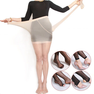 1 Pair Plus Size Nylon Sheer Stirrup Stockings Pantyhose Tights Fit to 250 pound