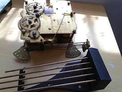 Vintage German Clock Movement With Chimes Patent 421434