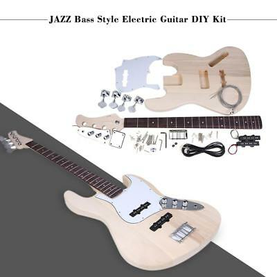 Hot JAZZ 4-String Electric Bass Solid Basswood Body Maple Neck DIY Kit W7T7