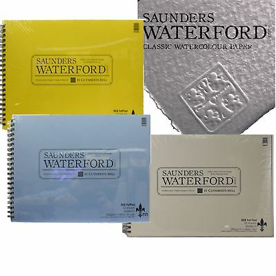 Saunders Waterford watercolour paper pad cotton paper rough cold press