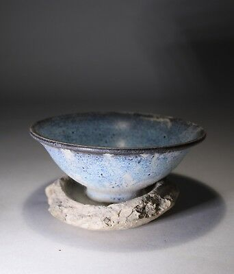 Antique Chinese Jun Ware Bowl in Saggar Song Dynasty