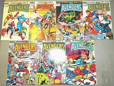 The Official Marvel Index To The Avengers 1 2 3 4 5 6 7 Set Full Covers Comics
