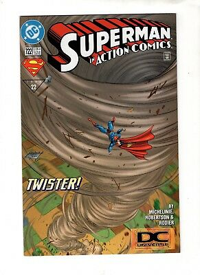 SUPERMAN IN Action Comics #722 (6/96)SCARCE DC UNIVERSE LOGO VARIANT NM - 9.2