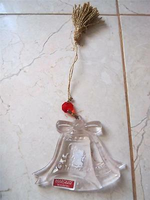 "New In Box Marquis By Waterford ""our First Christmas"" 2008 Crystal Tree Ornament"