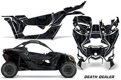 Full UTV Decal Graphics Kit Wrap For Can-Am Maverick X3 DS RS 2016-2018 DEATH DL