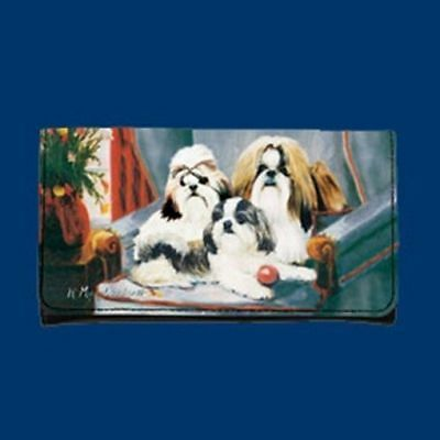 RM wallet SHIH TZU Dog Breed Ladies Wallet Checkbook Zippered Coin