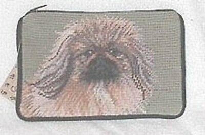 NP cosmetic PEKINGESE Dog Breed Needlepoint Cosmetic Bag Purse Zippered Pouch