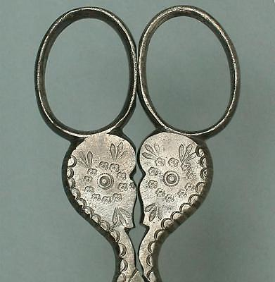 Antique Steel Floral Embroidery Scissors * Germany * Circa 1900