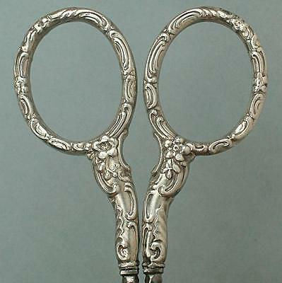 Antique American Sterling Silver Embroidery Scissors by Whiting * Circa 1890s