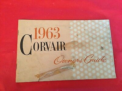 "k. 1963 Chevrolet ""Corvair"" Car Owner's Guide Manual"