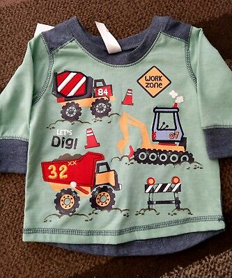 baby boys top digger construction BNWT size 00