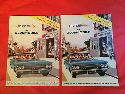 "x. LOT 2--1961 Oldsmobile ""F-85"" Car Dealer Sales Brochures"