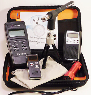 Ghost Hunting Kit + Spirit Box + Laser Pen + MEL 8704R EMF Meter + Recorder +
