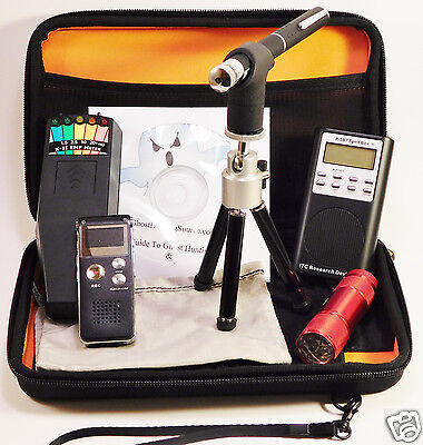 Ghost Hunting Kit + Spirit Box + Laser Pen + K2 KII EMF Meter + Recorder + Case