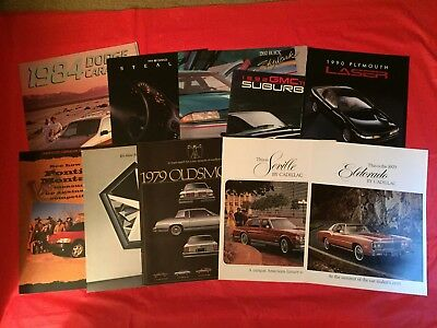 LOT 10 Oldsmobile Dodge Cadillac Chrysler Pontiac Plymouth Buick GMC Brochures