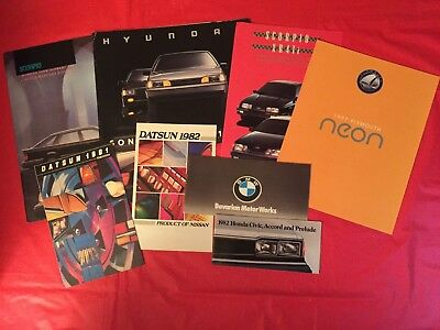 LOT 8 Plymouth Lincoln-Mercury Hyundai BMW Datsun Honda Car Dealer Brochures