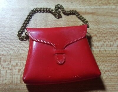 Vintage Tammy Red Purse W/Chain, Mint & Hard To Find, By Ideal
