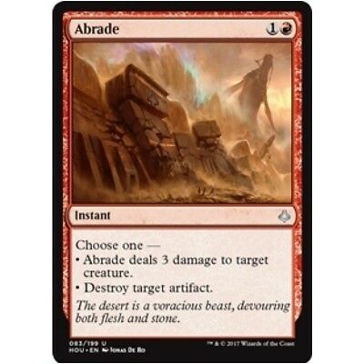 ABRADE NM mtg Hour of Devastation Red - Instant Unc