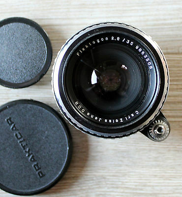 Lens Flektogon 2,8/35 by Carl Zeiss Jena
