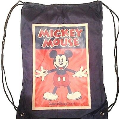 Disney Mickey Mouse Fleece Throw Blanket and Cinch Sack Backpack Theme Parks