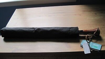 "New! Black Golf LEXUS Logo Automatic Umbrella 60"" with Classic Wood Handle"