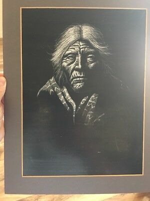 Sammy Sandoval Scratchboard/Original Signed Dated