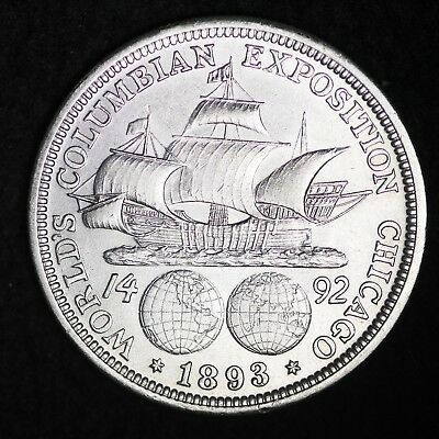 UNCIRCULATED 1893 Columbian Exposition Silver Half Dollar FREE SHIPPING