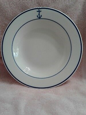 """U. S. Navy Tableware 9"""" Soup Or Salad Plate With Fouled Anchor - Shenango"""