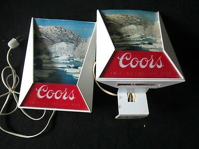 2 - Vintage Coors Beer Lighted Signs Rocky Mountains