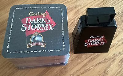 Gosling's Dark n Stormy Cow Bell & Coasters Sealed Pack - More Cow Bell - RARE