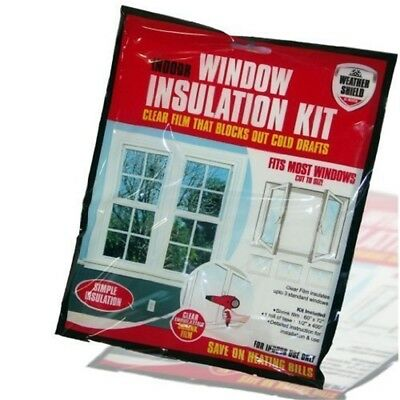 Window Shield Home Heating Draft Insulation Kit Excluder Double Glazing Film