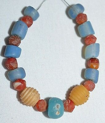 Ancient Glass Mixed European Beads Excavated Djenne Dig Beads Mali African Trade