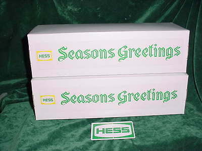 Seasons Greeting Holiday Hess Christmas Fire Truck Box  Red For 1970 -71 Truck