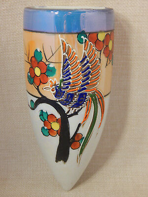 WALL POCKET, Hotta Yu Shoten & Co - JAPAN - Orangle Luster, Bird Design