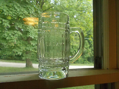 Richardson's Creamy Root Beer Rochester,ny Antique Heavy Glass Advertising Mug